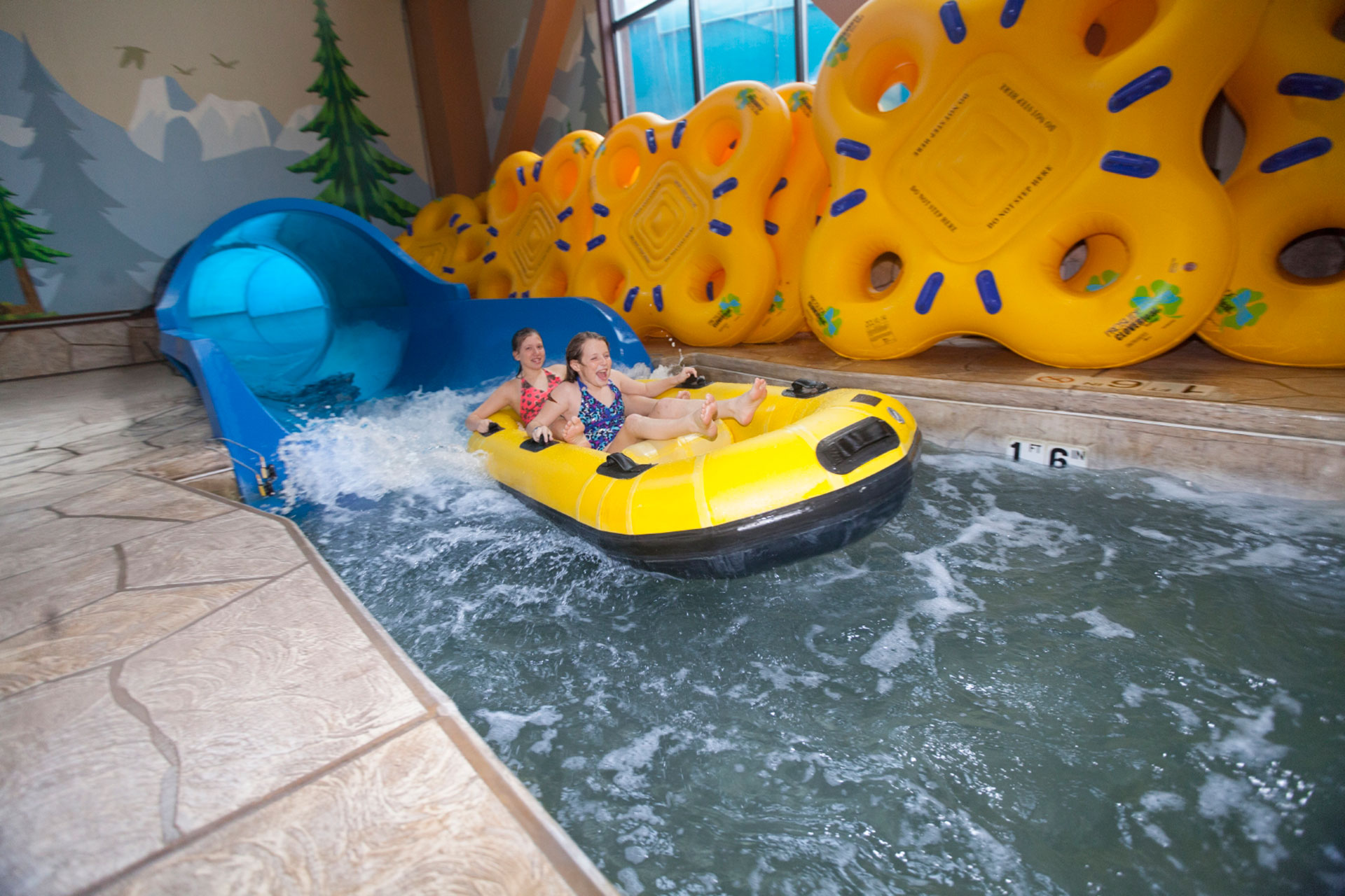 Girls on Tube Ride at Great Wolf Lodge in the Poconos