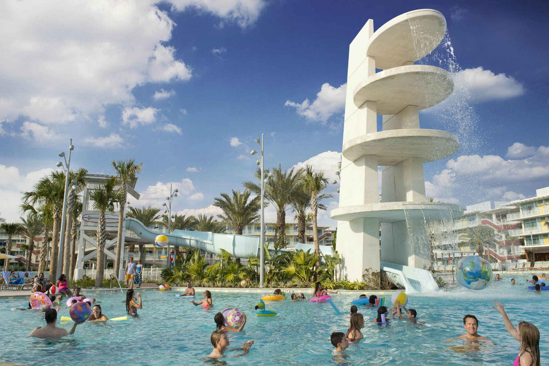 Cabana Bay Beach Resort pool; Courtesy of Universal's Cabana Bay Beach Resort