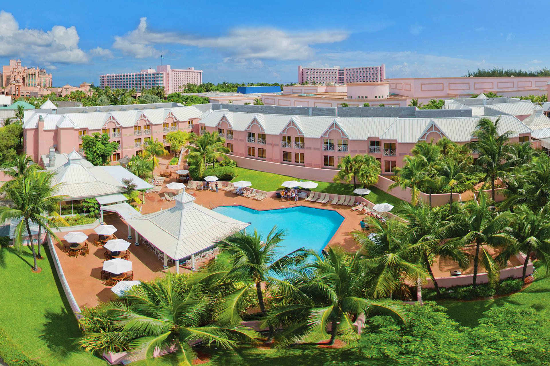 Aerial view of Comfort Suites Paradise Island; Courtesy of Comfort Suites Paradise Island