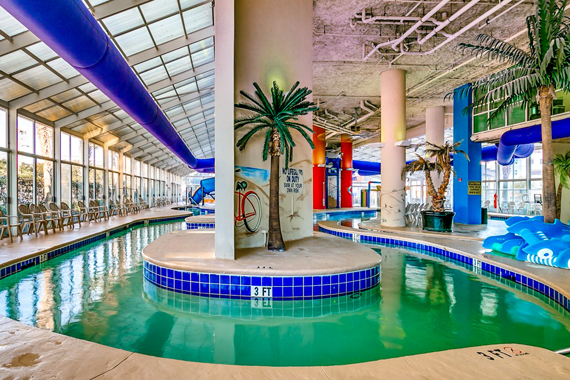 Waterpark inside of Dunes Village Resort; Courtesy of Dunes Village Resort