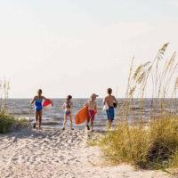 Family on Beach at Wild Dunes Resort in South Carolina