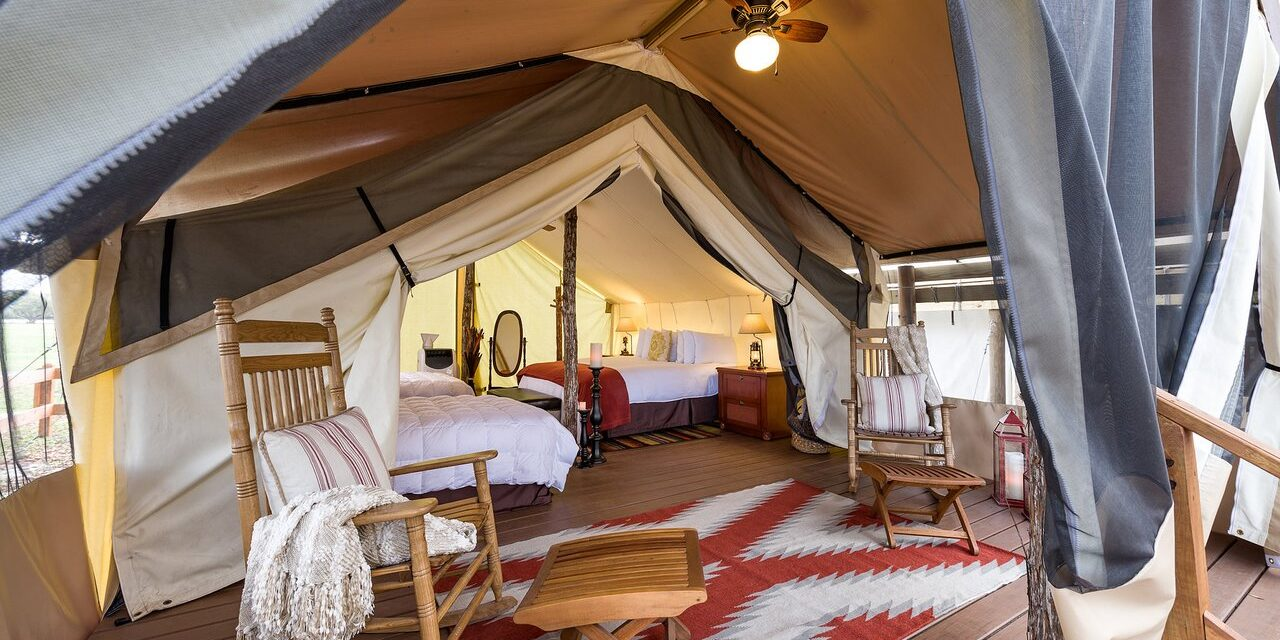 Glamping Tent at Westgate River Ranch; Courtesy of Westgate River Ranch