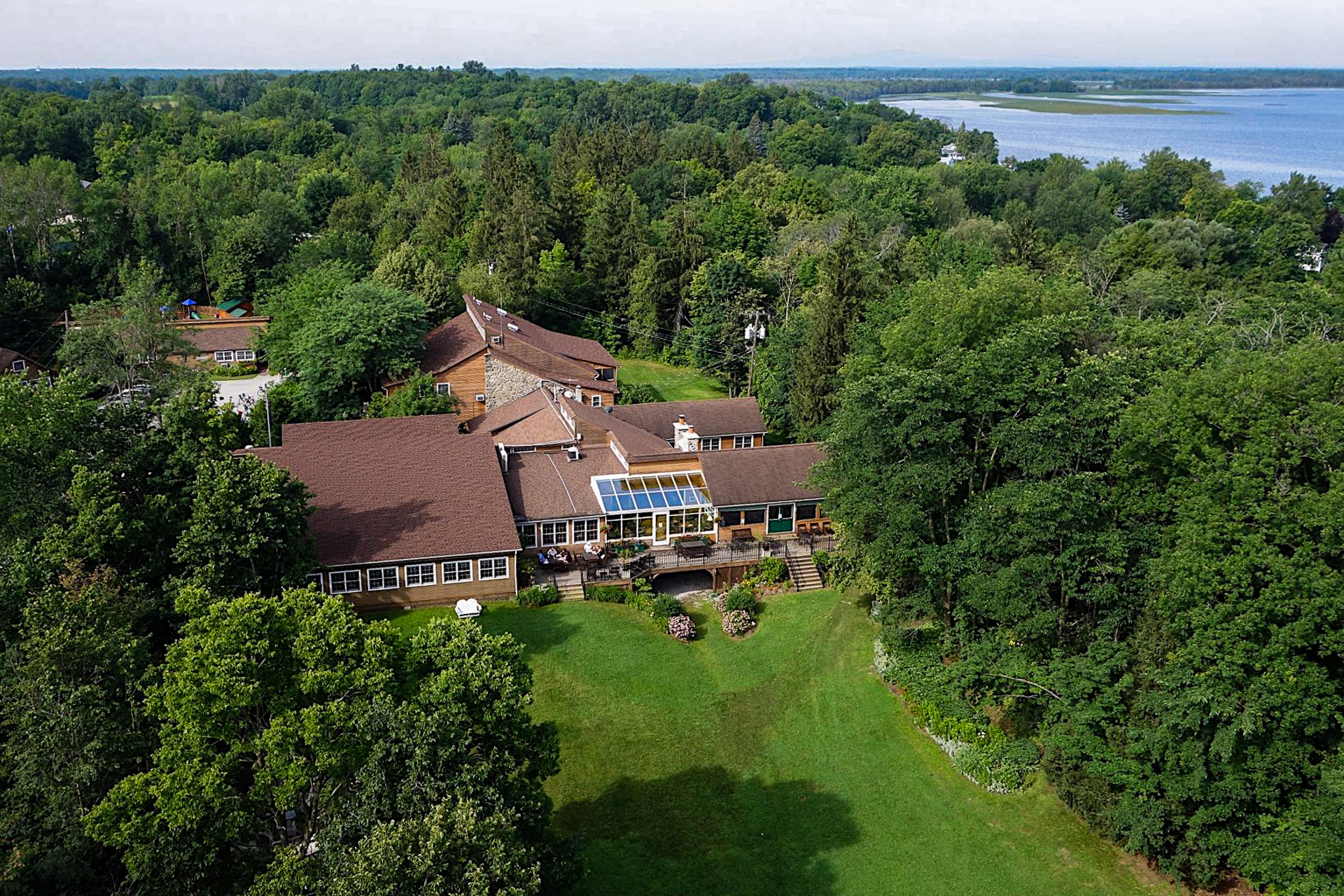 aerial view of Tyler Place Family Resort; Courtesy of Tyler Place Family Resort
