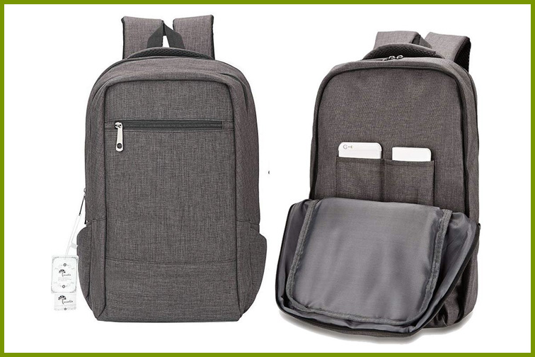 Winblo Travel Laptop Backpack in Gray