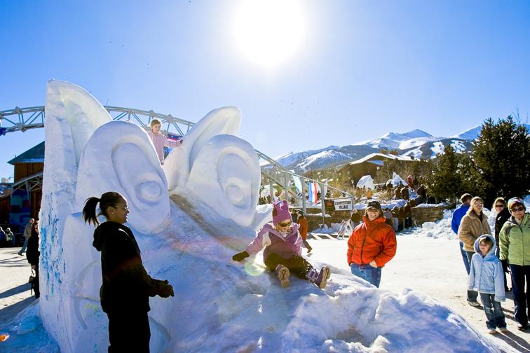 Breckenridge Ski Resort ice scuplture; Courtesy Colorado Tourism Office