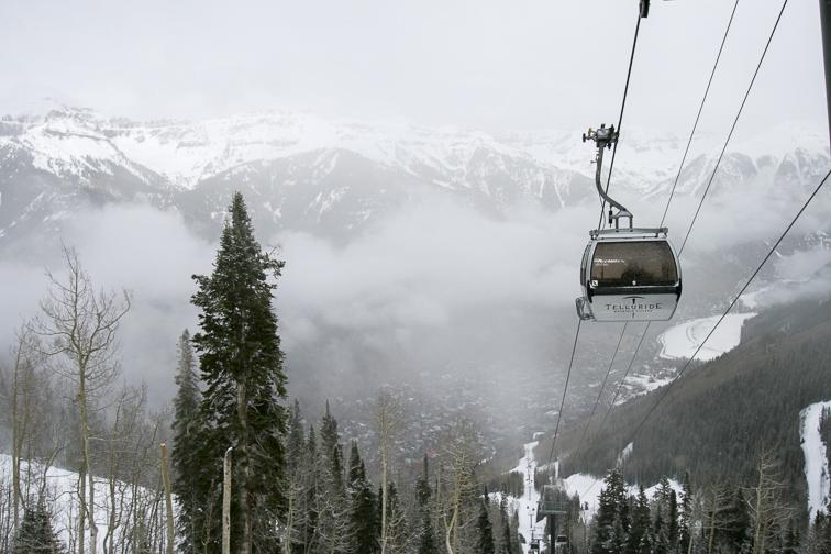 Telluride gondola; Courtesy Colorado Tourism Office