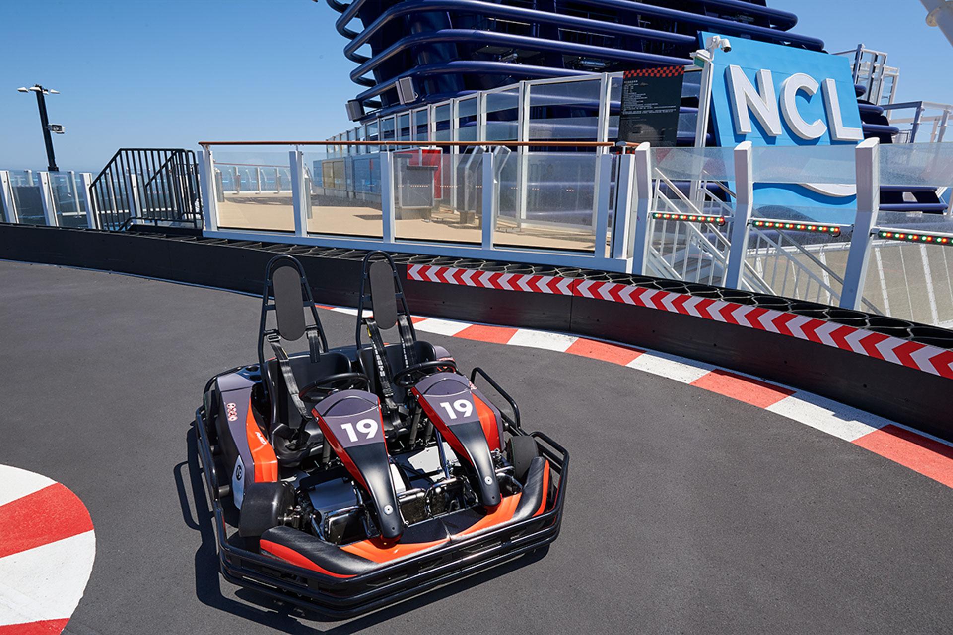 Go Karts on Norwegian Cruise Line Joy; Courtesy of Norwegian Cruise Line