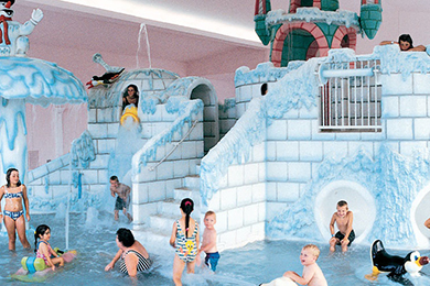 Indoor Blizzard Bay water park area at Wintergreen Resort & Conference Center