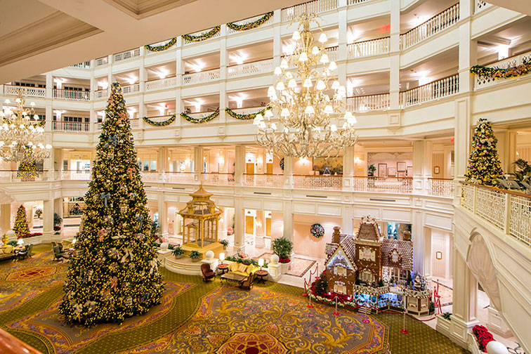 Christmas at Disney's Grand Floridian Resort & Spa in Orlando, FL