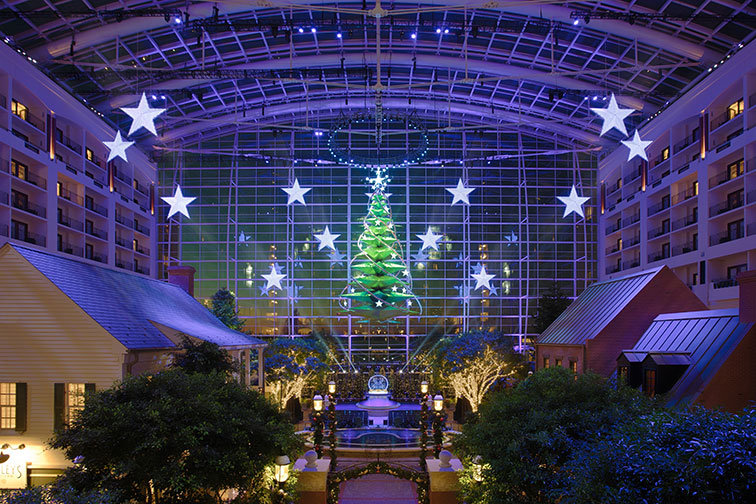 Holiday Decorations at Gaylord National Resort and Convention Center in National Harbor, MD
