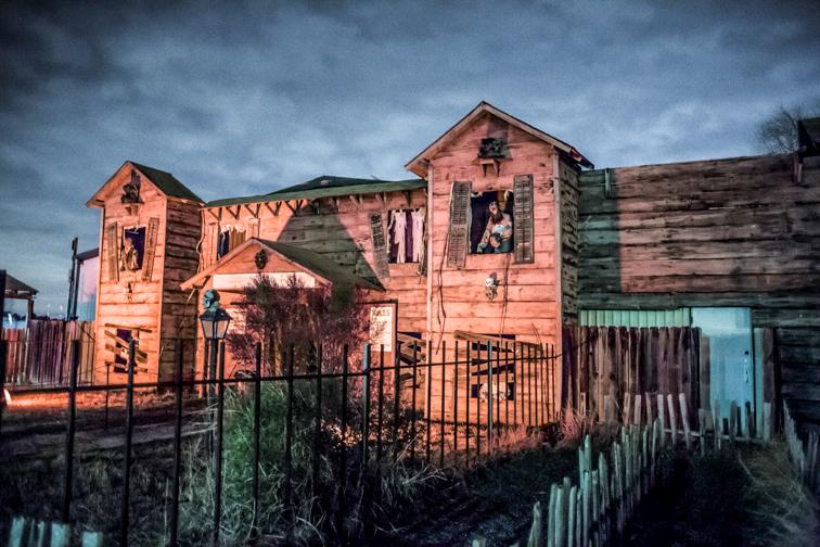 Exterior house in screamworld.; Courtesy of ScreamWorld