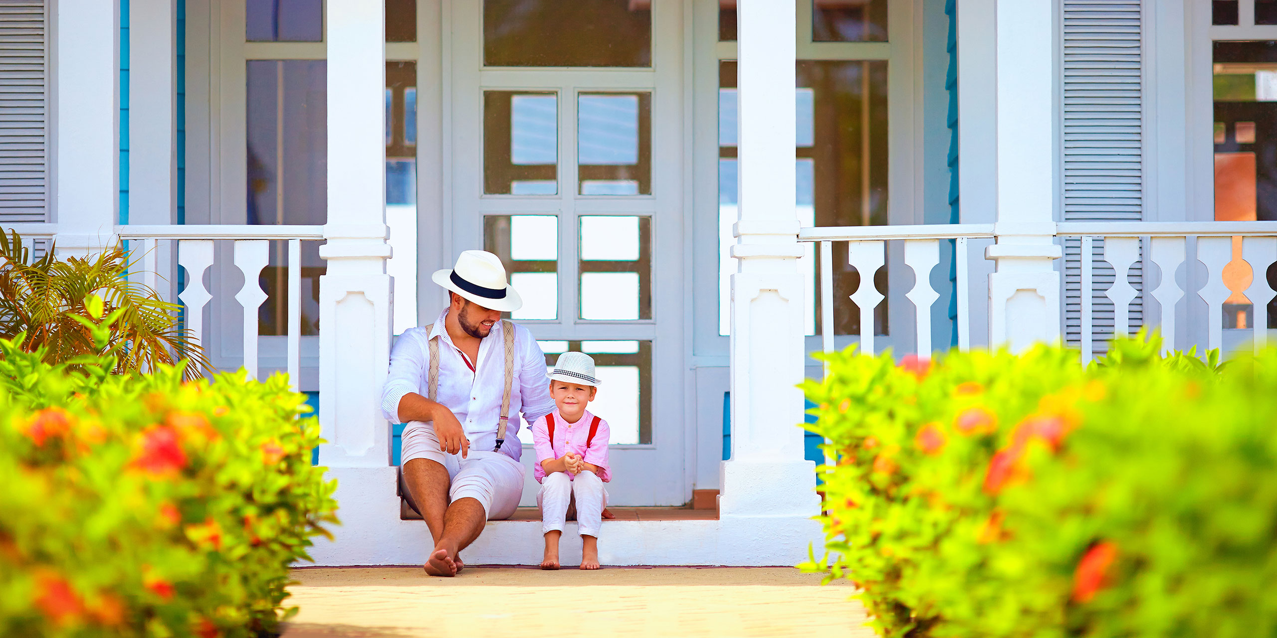 Father and Son in the Caribbean; Courtesy of Olesia Bilkei/Shutterstock.com
