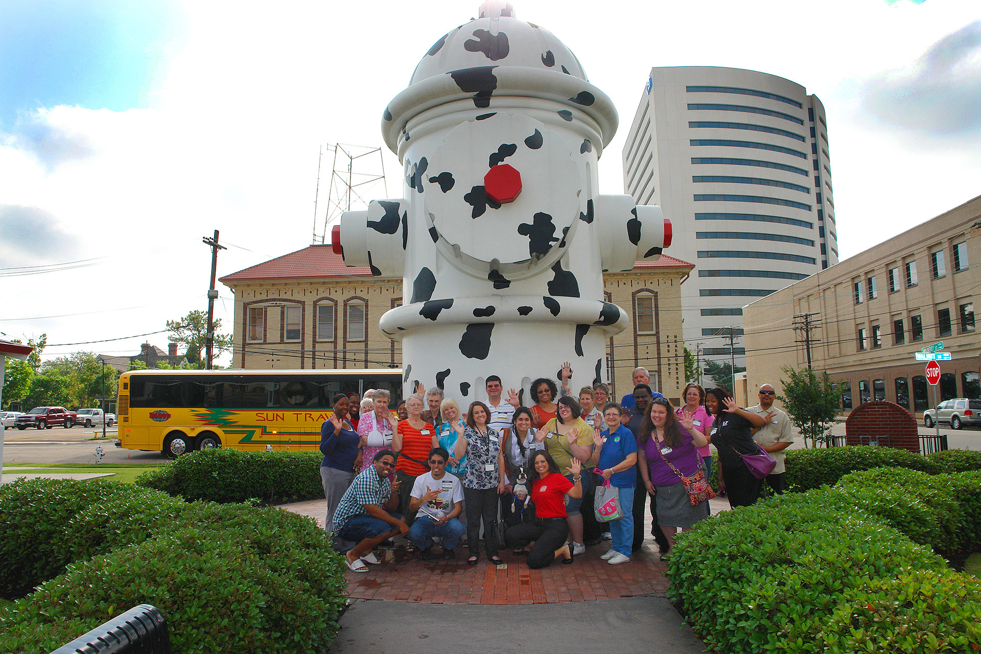 Giant Fire Hydrant in Beaumont, Texas; Courtesy of Beaumont Convent and Visitors Bureau