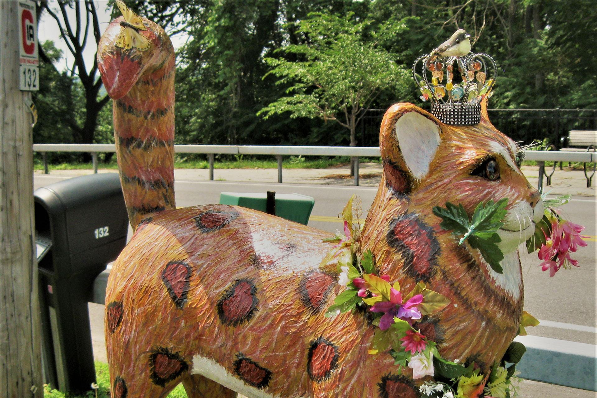 Fiberglass Feline in Catskill, NY; Courtesy of John Campisi