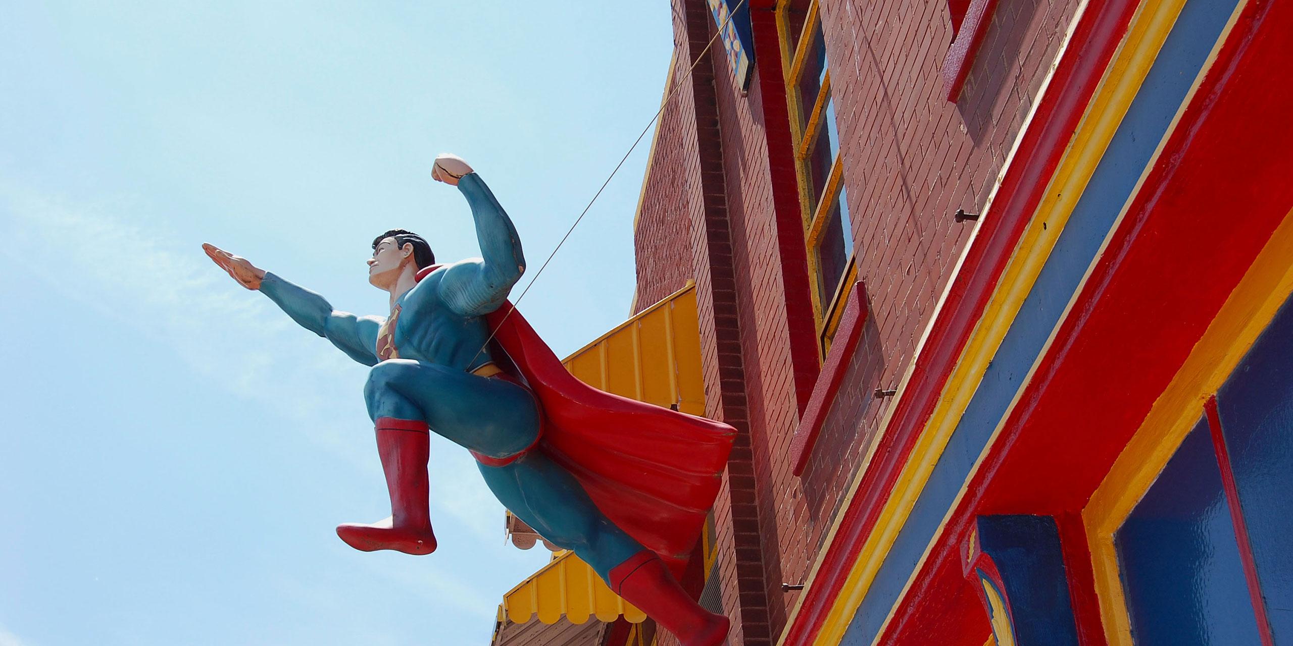 Superman in Metropolis, Illinois; Courtesy of Metropolis Tourism
