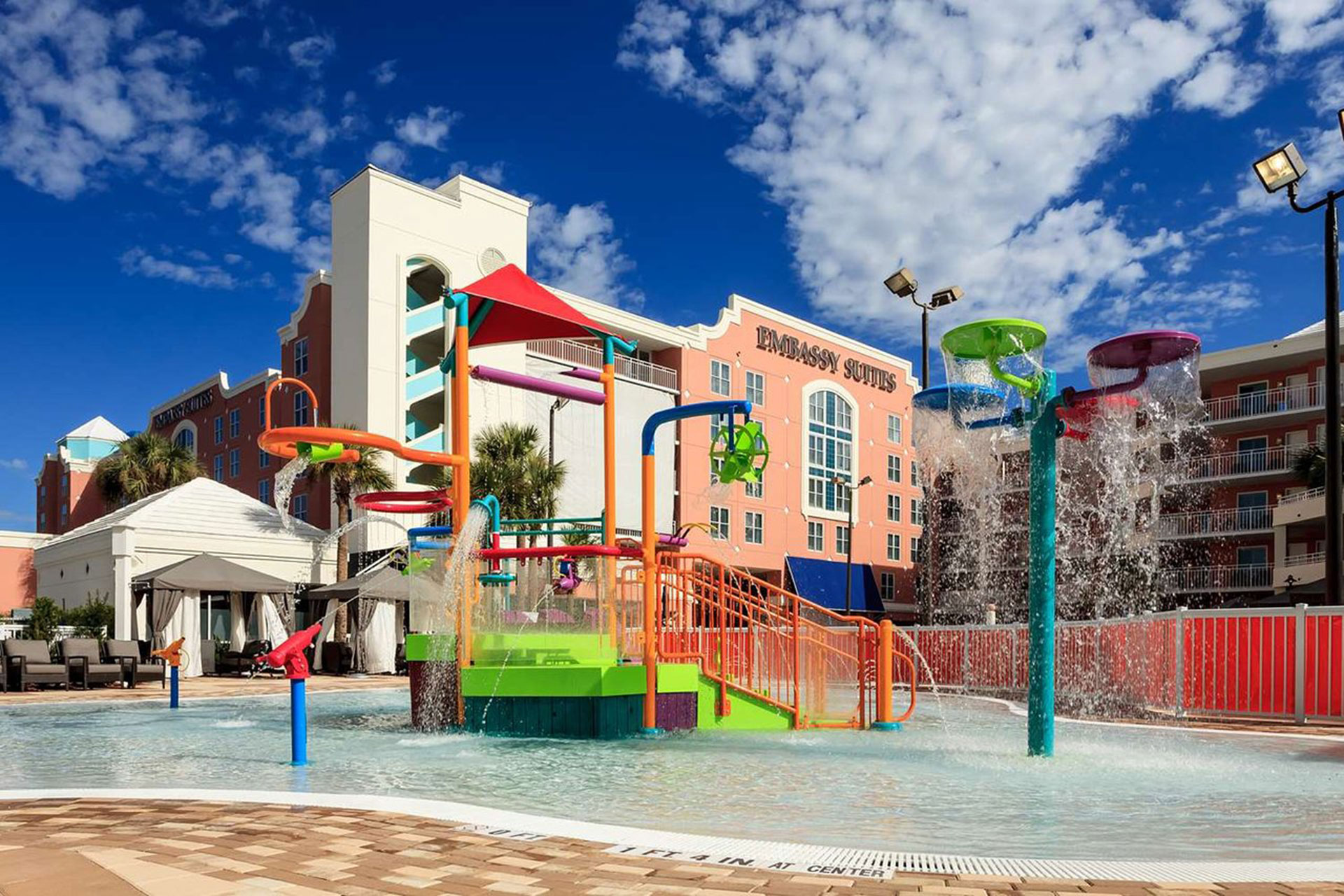Water Play Area at Embassy Suites Orlando - Lake Buena Vista; Courtesy of Embassy Suites Orlando - Lake Buena Vista
