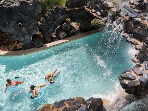 Lazy River at Four Seasons Resort Orlando at Walt Disney World Resort; Courtesy of Four Seasons Resort Orlando at Walt Disney World Resort