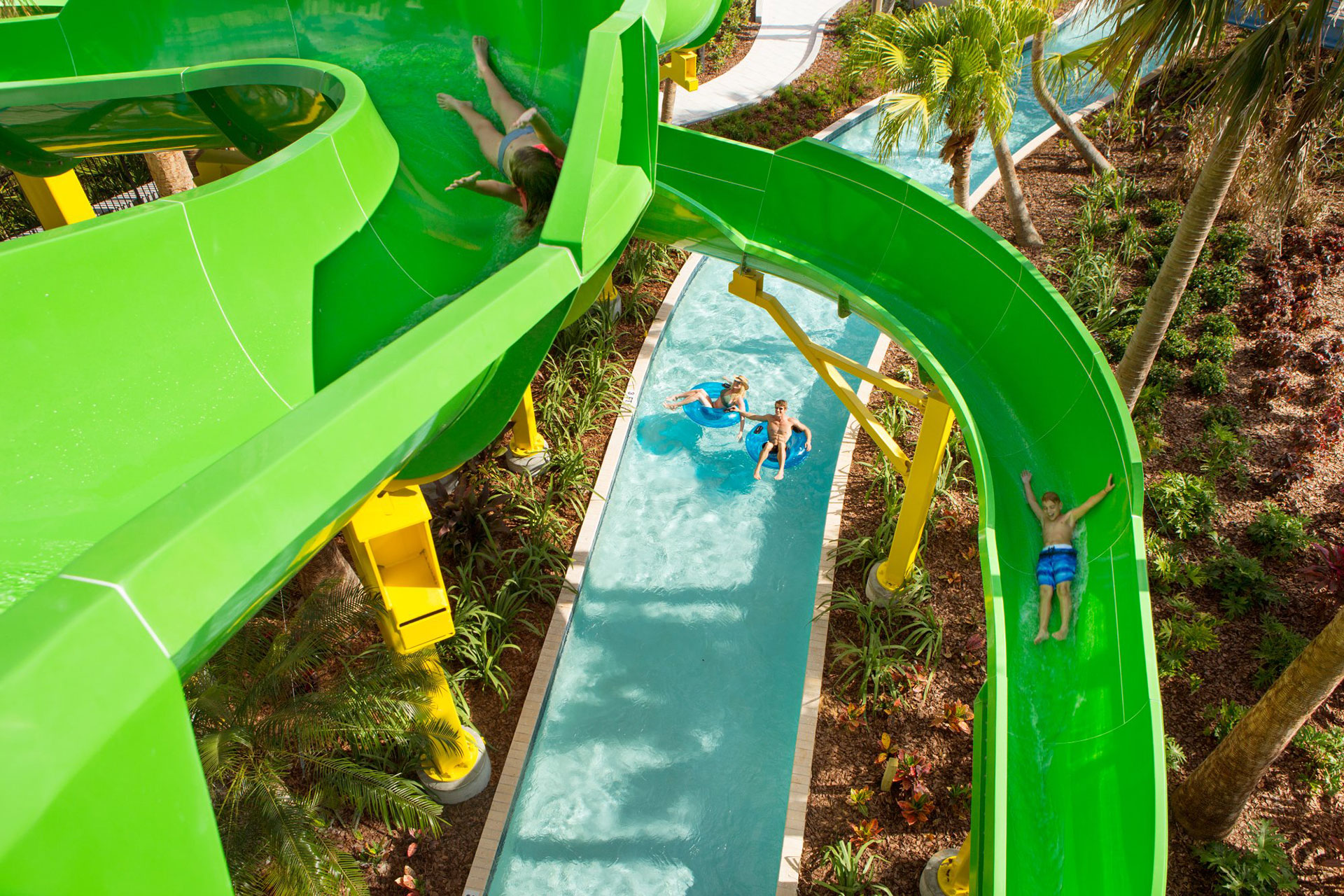 Waterslides at The Grove Resort Orlando