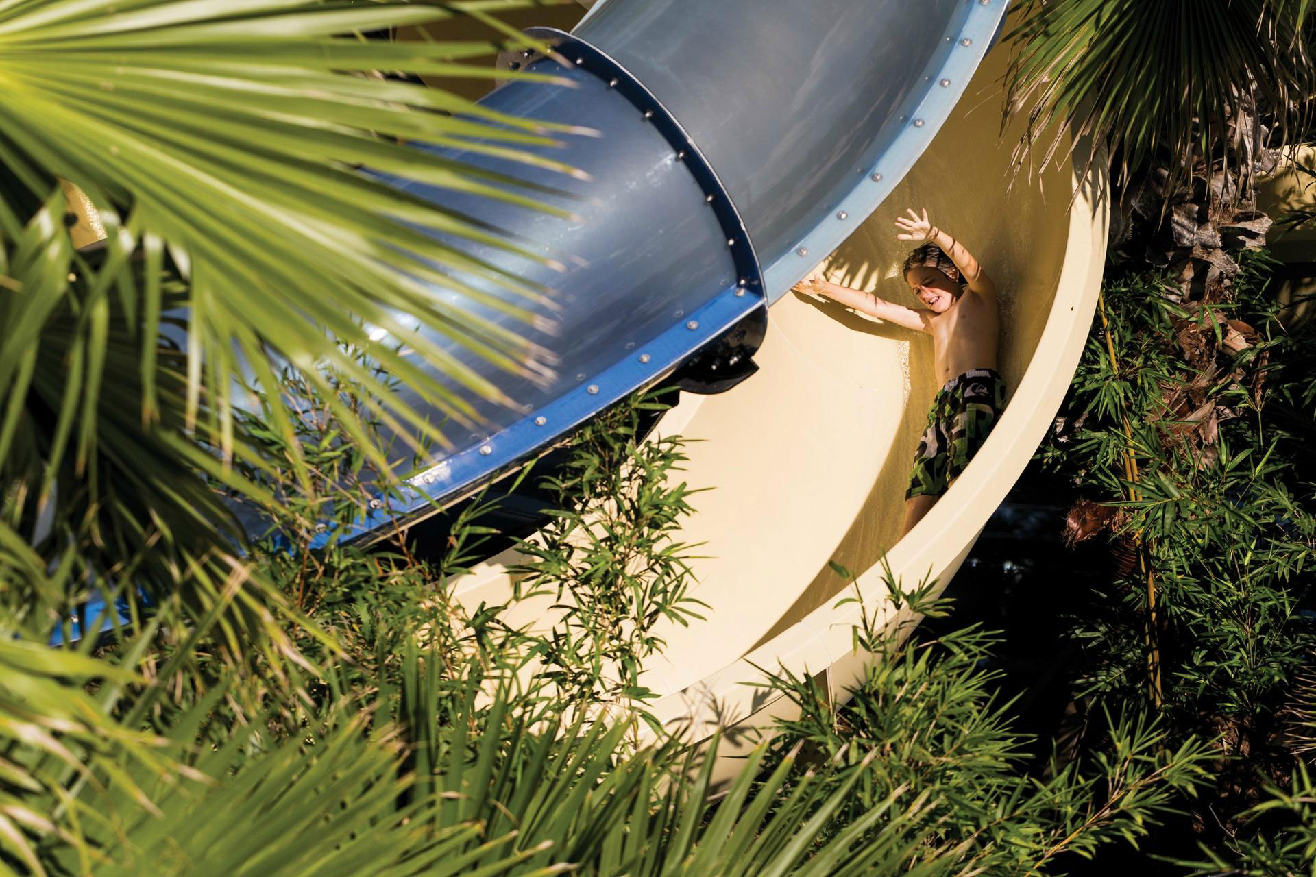 Waterslide at Four Seasons Resort Orlando at Walt Disney World Resort; Courtesy of Four Seasons Resort Orlando at Walt Disney World Resort