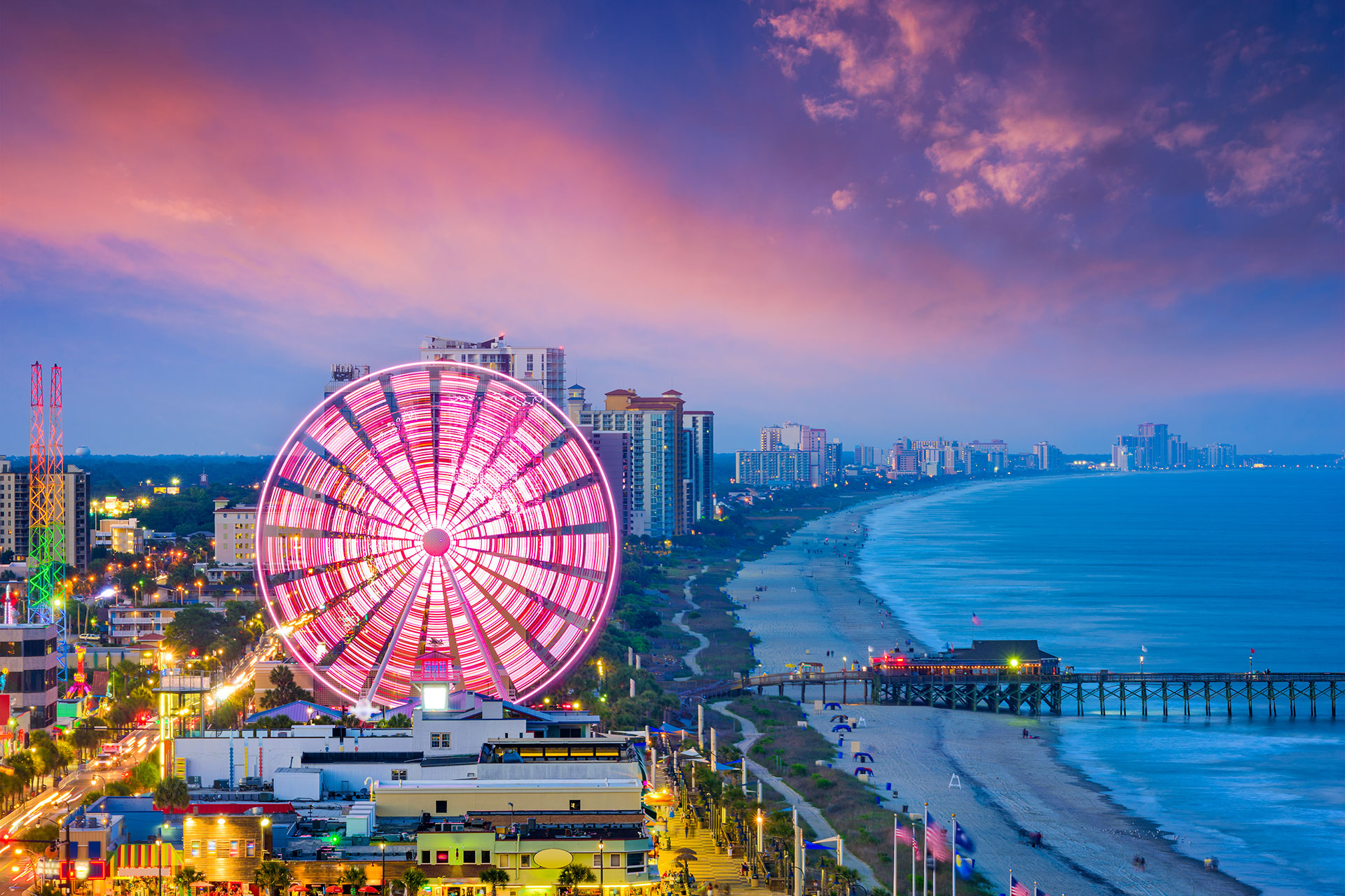 Myrtle Beach, SC at Night