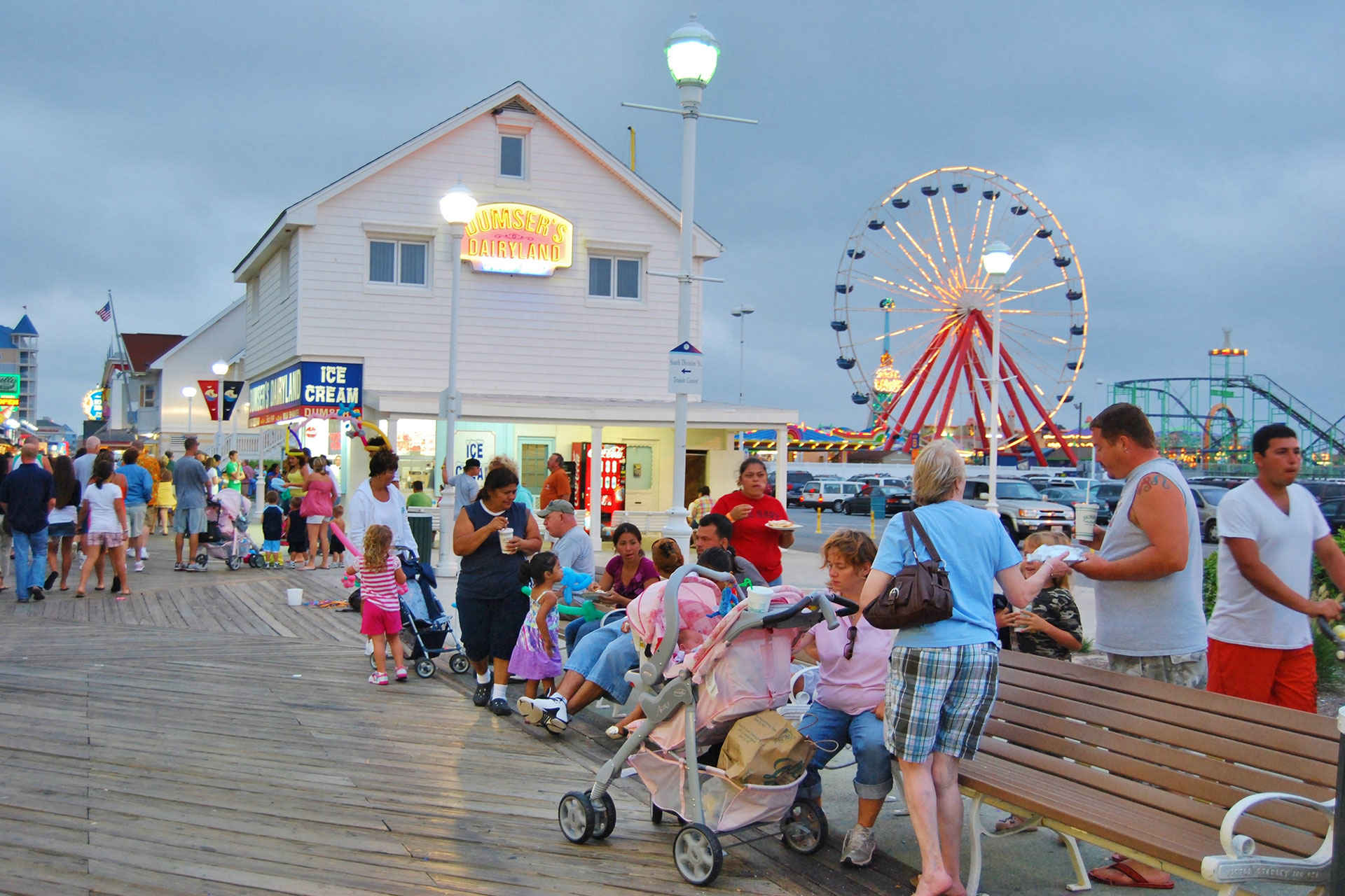 Ocean City, Maryland Boardwalk at Night