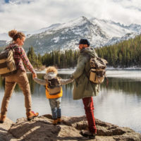 A family at Rocky Mountain National Park