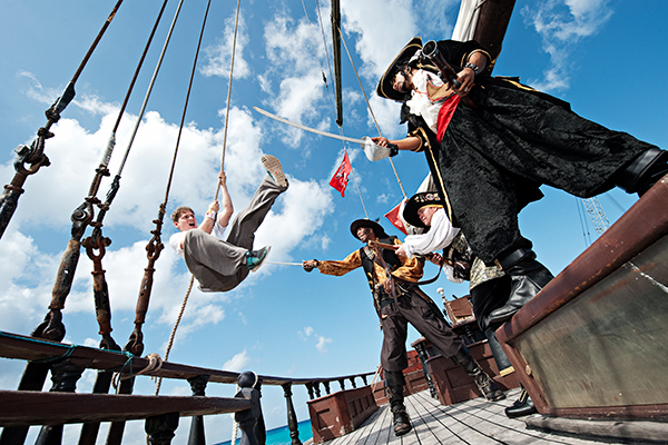 Visit pirate sites for kids to see pirates in action!
