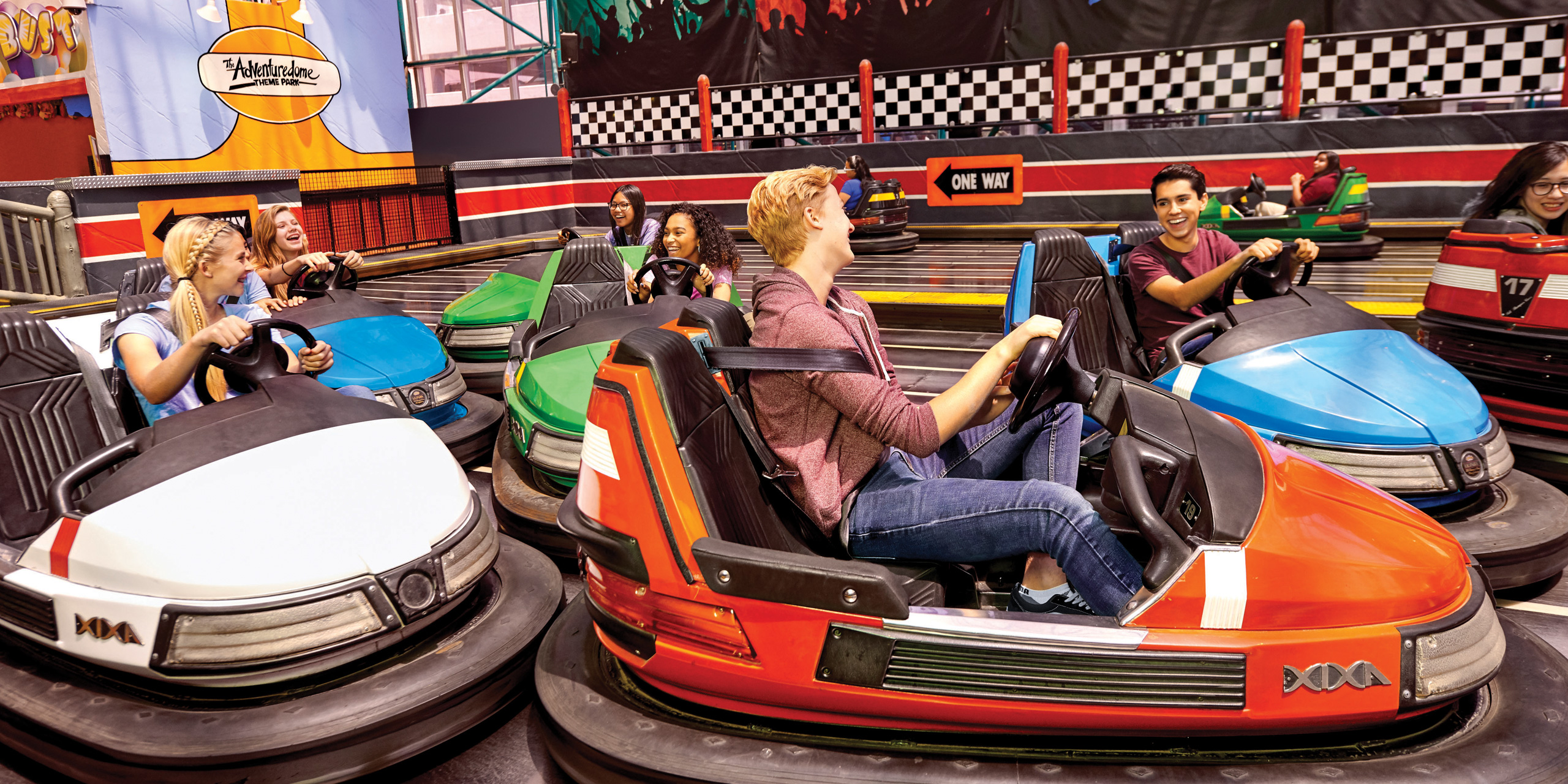 Adventuredome bumper cars; Courtesy of Circus Circus