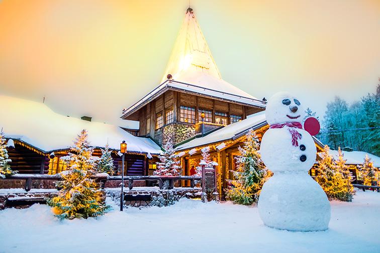 Rovaniemi, Finland Santa Clause village; Courtesy of Aleksei Verhovsk/Shutterstock
