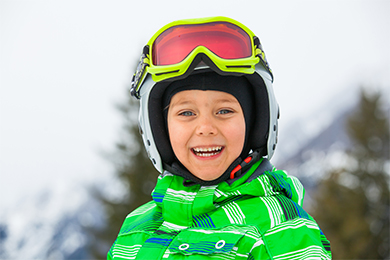 Young Boy in Ski Gear