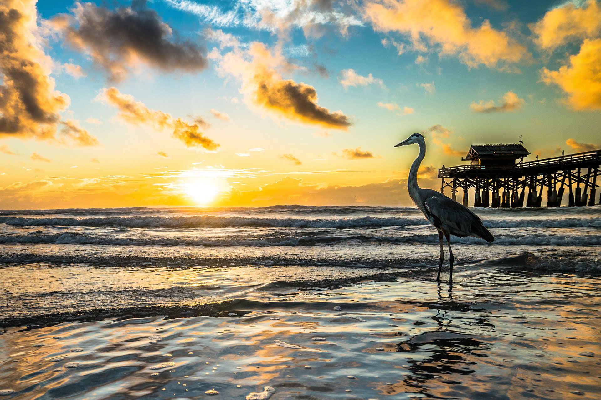 Cocoa Beach, Florida at Sunset