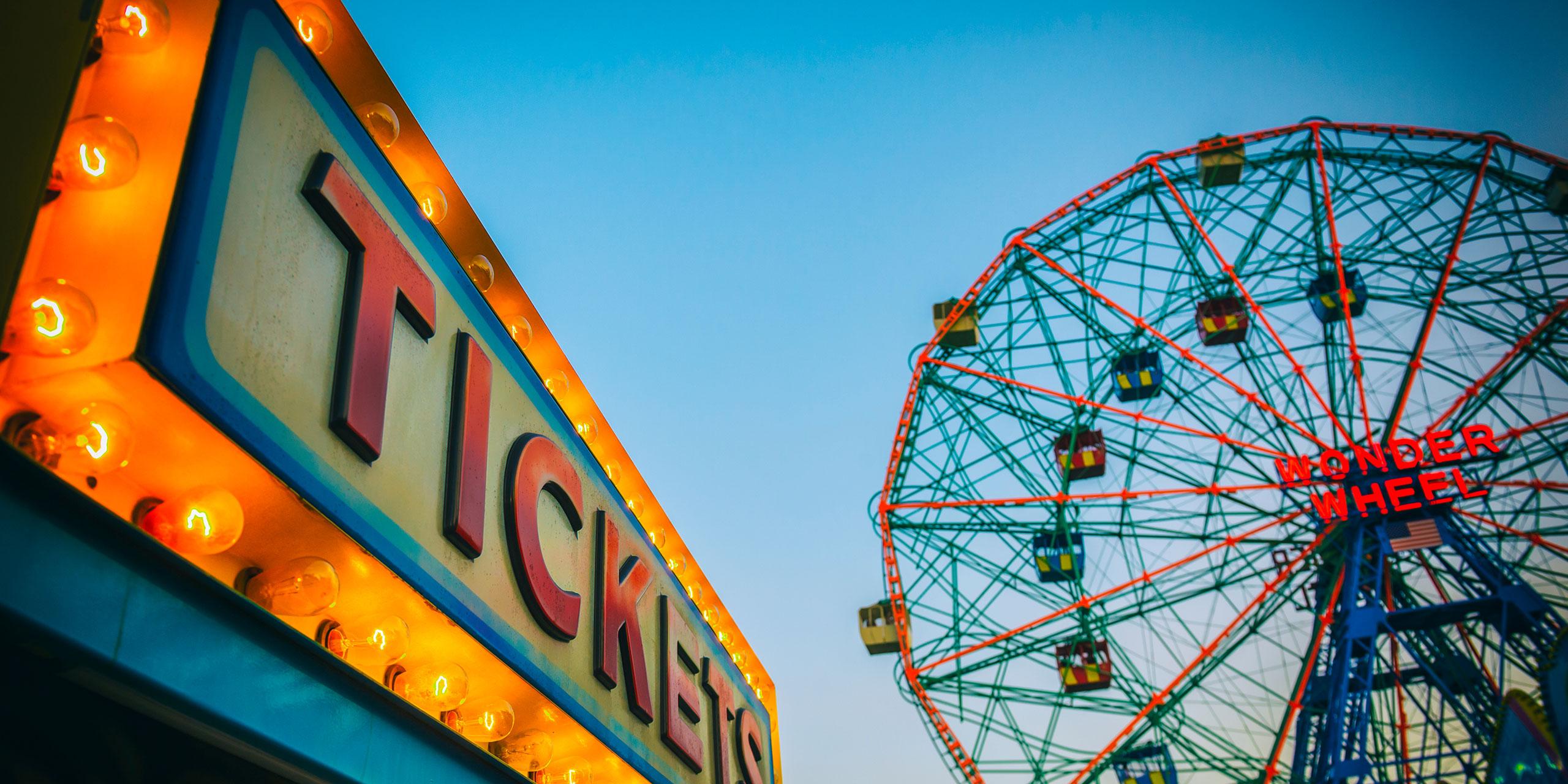 Coney Island Boardwalk; Courtesy of lazyllama/Shutterstock.com