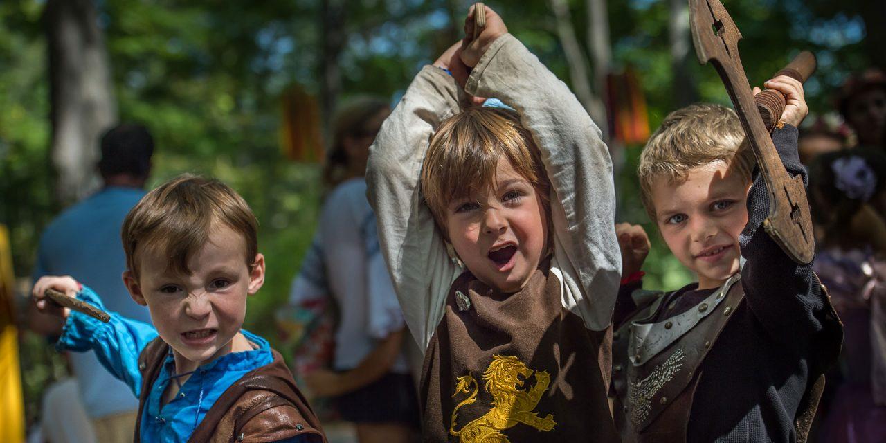 Boys in Costume at New York Renaissance Fair; Courtesy of Deborah Grosmark