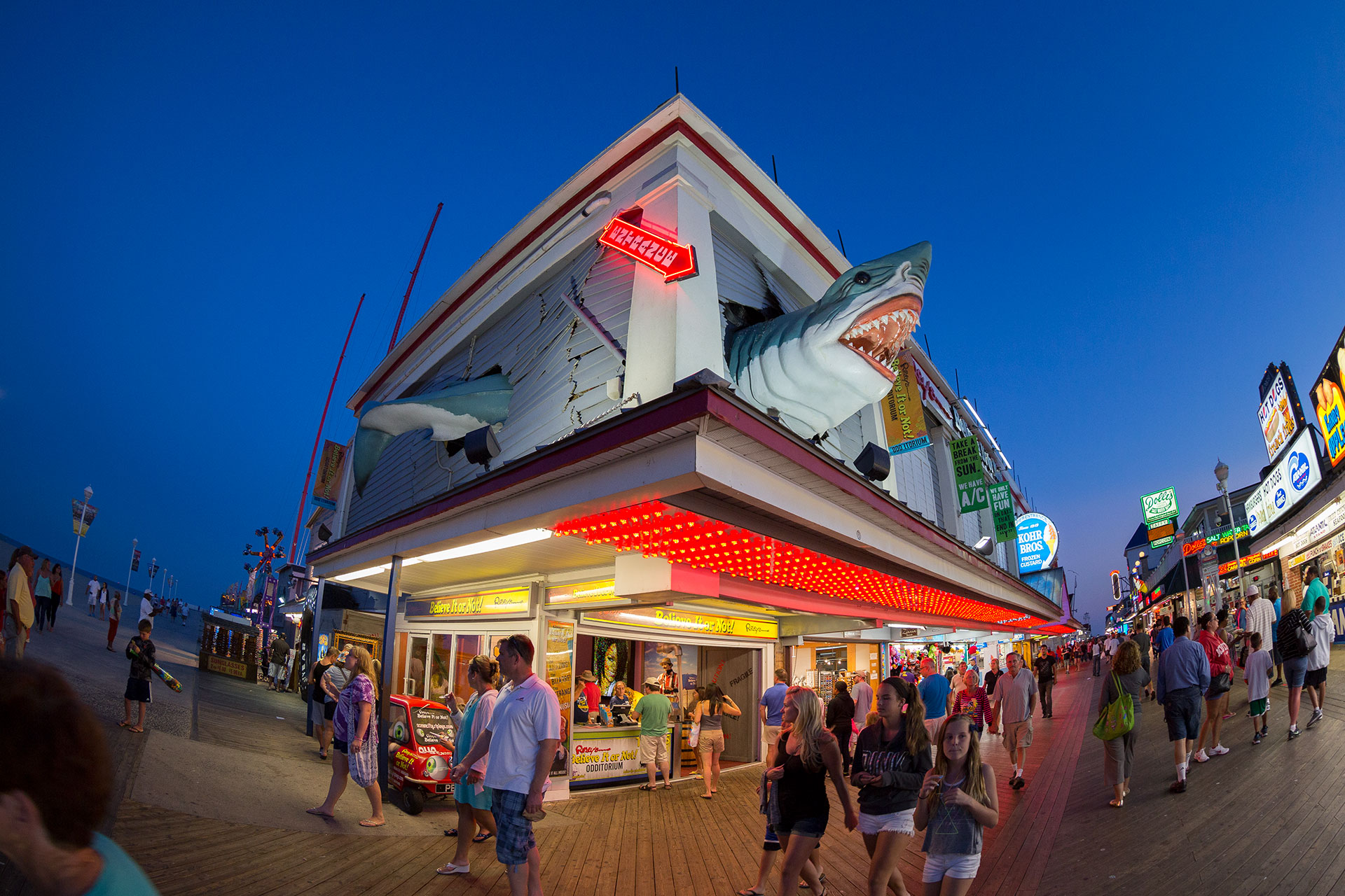 Ocean City, Maryland Boardwalk; Courtesy of Maryland Office of Tourism