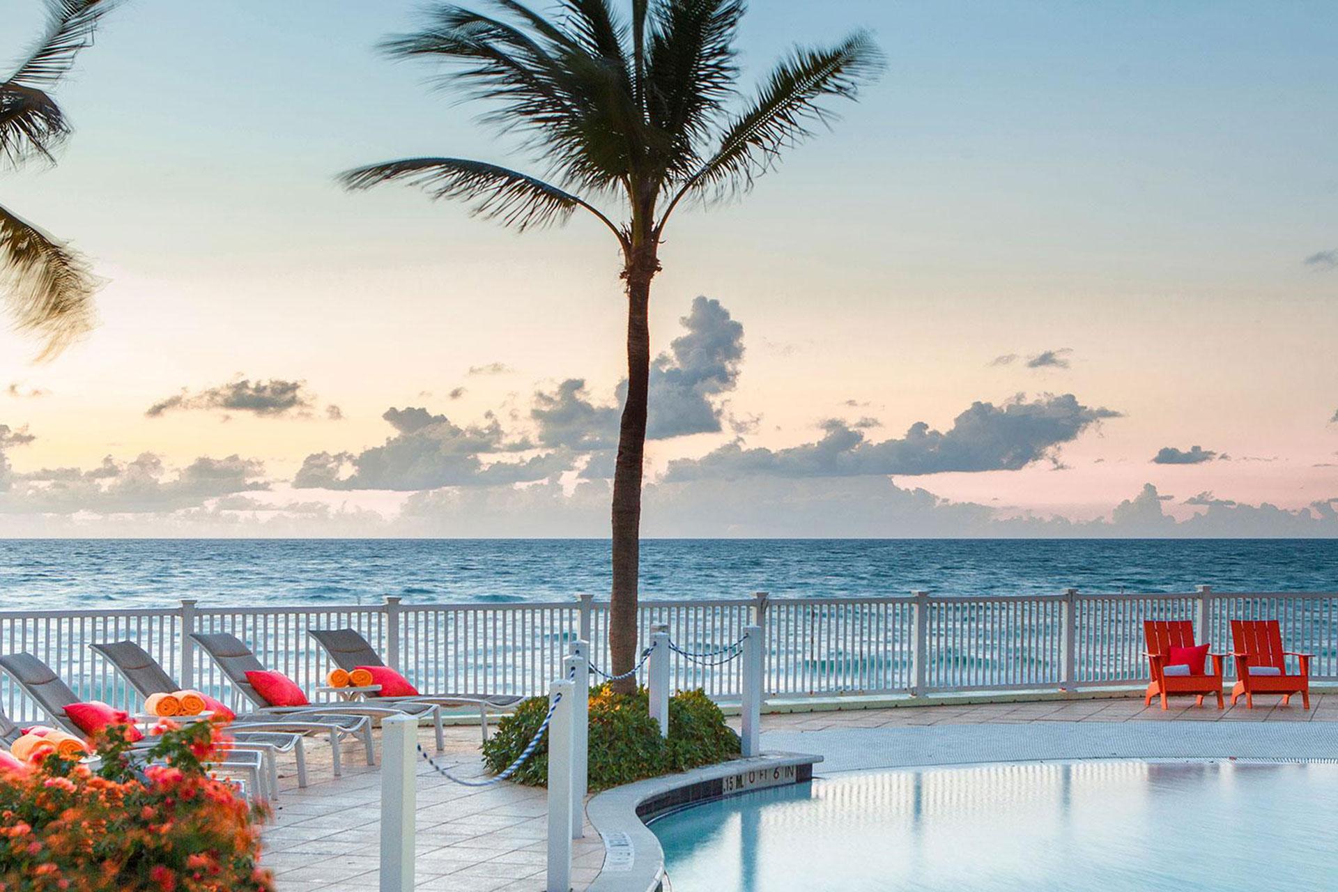 Pool With Ocean View at Pelican Grand Beach Resort