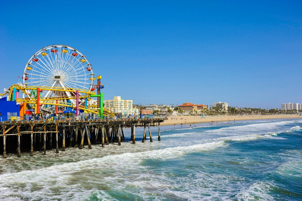 Santa Monica Pier, California; Courtesy Shutterstock