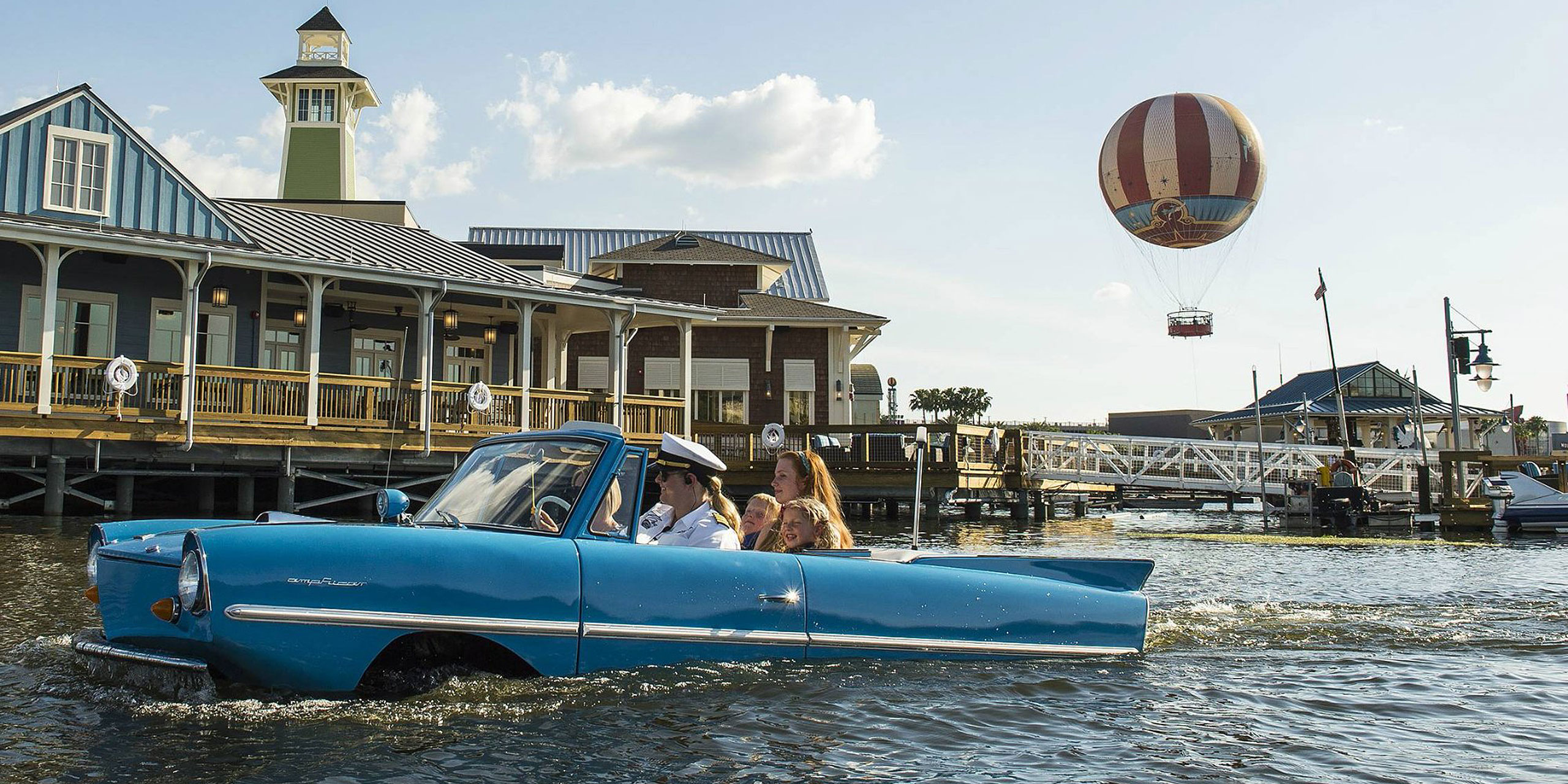 Disney Springs Amphicar; Courtesy of Hilton Orlando Lake Buena Vista