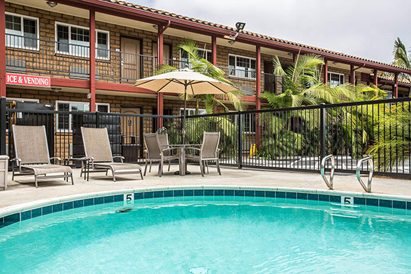 Pool at Econo Lodge Inn & Suites Near LEGOLAND
