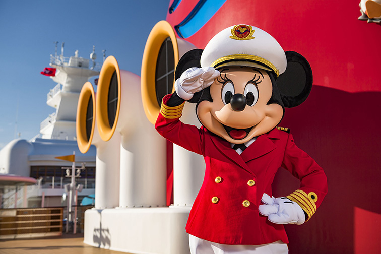 Captain Minnie Mouse is delighting children aboard all Disney Cruise Line ships; Courtesy of Walt Disney World