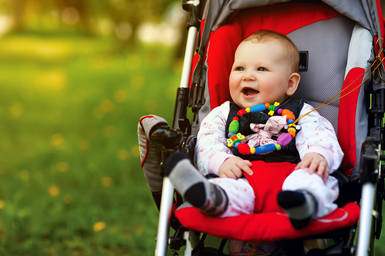 baby stroller park teether toy; Courtesy of Ipatov/Shutterstock