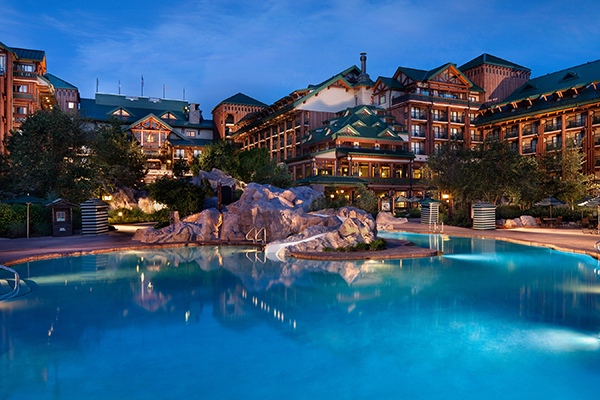 The pool at Disney's Wilderness Lodge