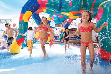 Kids Splashing Around at Aquanuts on Royal Caribbean Ship