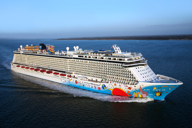 Exterior View of Norwegian Cruise Line Ship