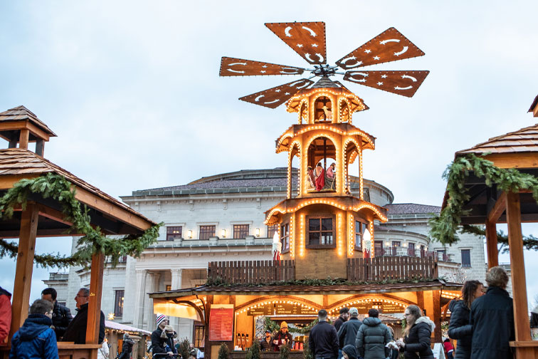 Carmel Christkindlmarkt in Indiana; Courtesy of Hamilton County Tourism