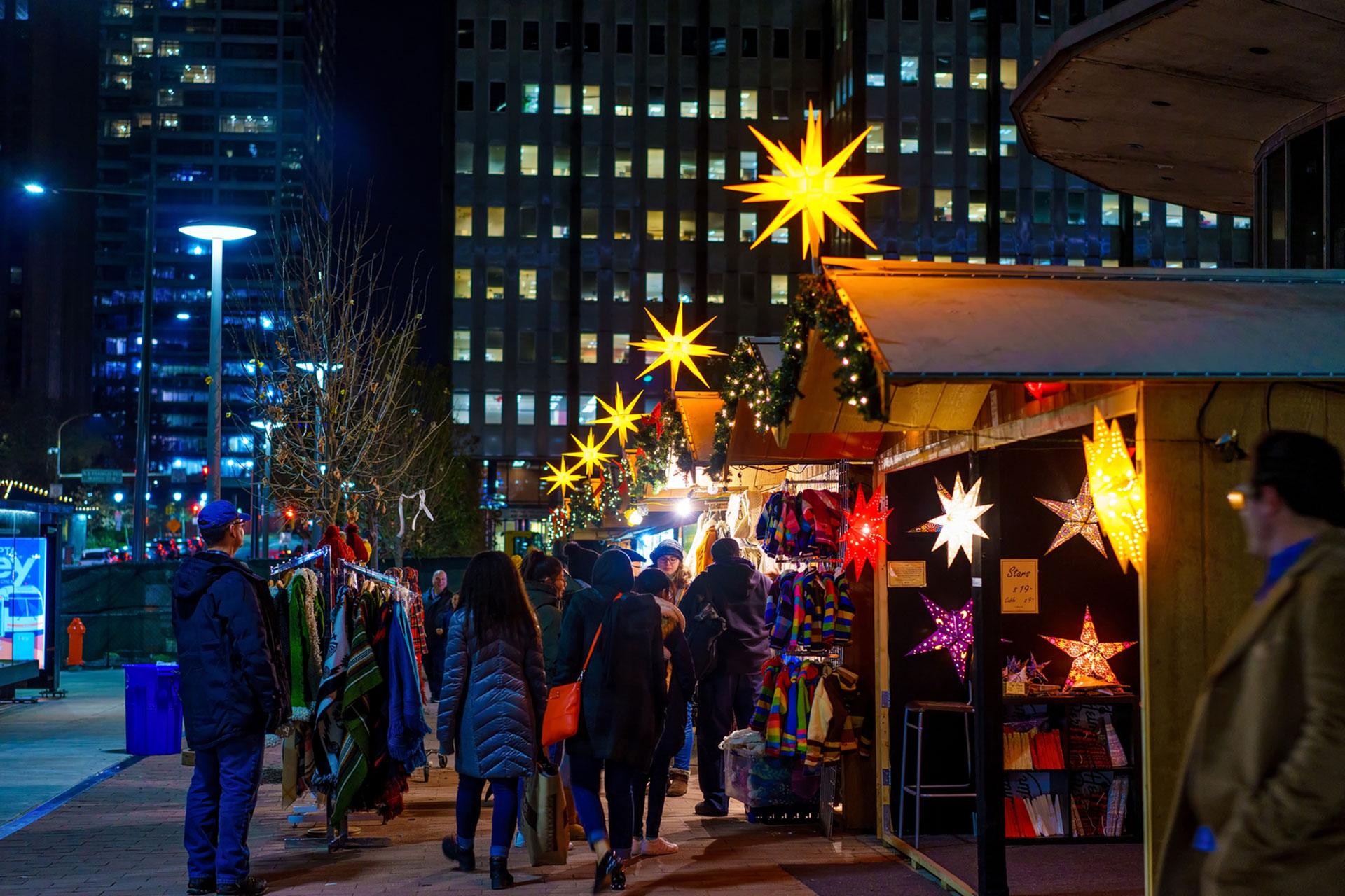 Christmas Village in Philadelphia; Courtesy of J Fusco For Visit Philadephia