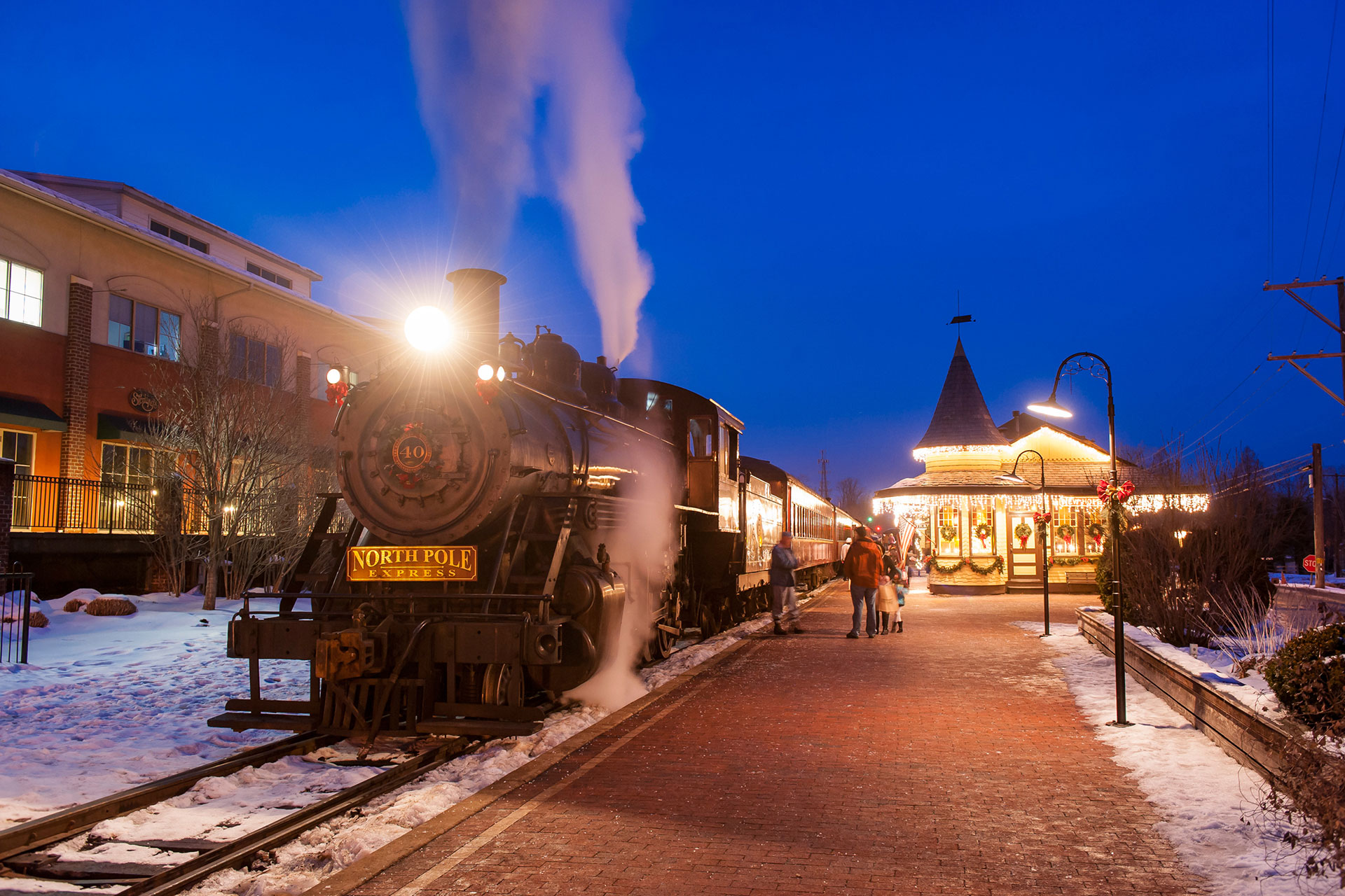 New Hope & Ivyland Railroad's North Pole Express; Courtesy of Visit Bucks County