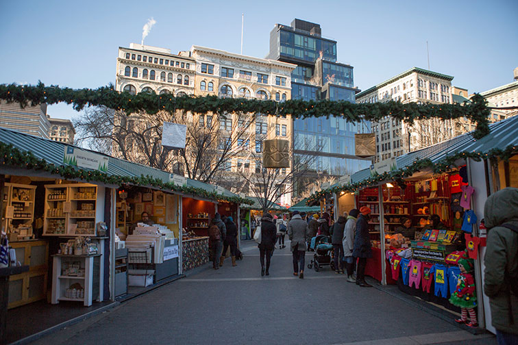 Union Square Holiday Market in New York City