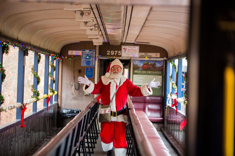 Blue Ridge Scenic polar express; Courtesy of Patriot Rail Company