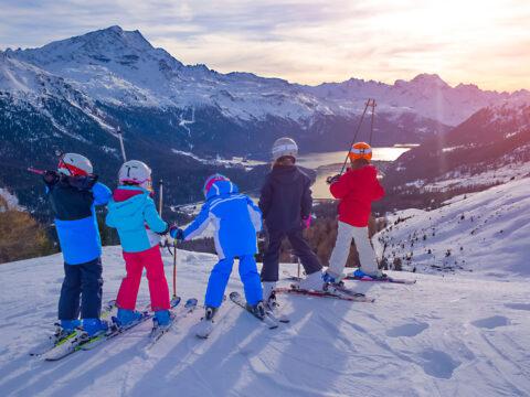 Kids skiing; Courtesy of michelangeloop/Shutterstock.com