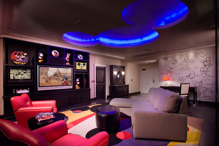 Mickey Mouse Penthouse at Disneyland Hotel in Anaheim, CA